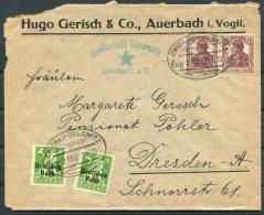 1920 Germany Esperanto Auerbach Advertising Cover. Zwickau - Oelsnitz Bahnpost, Railway TPO - Briefe U. Dokumente