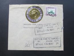 Jordanien 1967 Brief Der Arab Bank Ltd. Amman (Jordan) Runde Goldene Briefmarke. Toller Beleg! - Jordanien