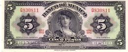 Mexico P.60   5  Pesos 1970 Unc - Messico