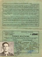 VP12.822 - MILITARIA - MONTARGIS 1962 - Permis Militaire Motocyclette - Soldat J.C HIREL Né à MOUTIERS - Documents