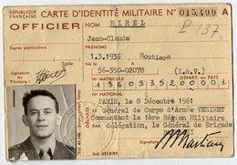 VP12.823 - MILITARIA - PARIS 1961 - Carte D'Identité Militaire Avec Photo - Soldat J.C HIREL Né à MOUTIERS - Documents