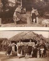 Romania - 2 Postcards Bucuresti - Cartea Romaneasca (A. Bellu, Top Animation, 1922) - Roumanie