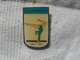 Pin's Des 10 Ans Du Club De Gym De La Commune D'ANDLAU (Dépt 68) 1982-1992 - Gymnastics