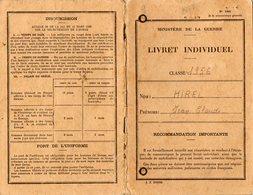 VP12.826 - MILITARIA - RENNES 1956 - Livret Militaire - Soldat J.C HIREL Né à MOUTIERS - Documents