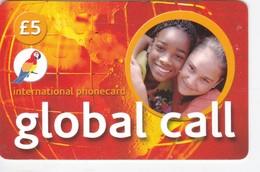 United Kingdom, Global Call, International Phonecard, Parrot, 2 Scans.       105 - Royaume-Uni