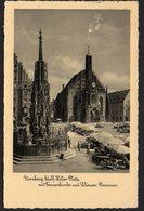 DEUTSCHES REICH TRAVELED POSTCARD ANSICHTSKARTE, 1936. NÜRNBERG, ADOLF HITLER PLATZ - Vari