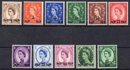 Oman 1957  MiNr. 66/ 76  **/ Mnh ; Freimarken , Wertaufdruck/ Overprint New Value - Oman