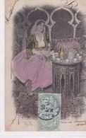 PS / JUDAICA.  ALGER Belle (Fatma) Juive  (Costume, Bijoux & Coiffure Typiques Juives D'Alger) Dans Son Intérieur - Judaisme