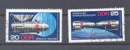 1968   DDR Mi-1341-1342  Sowjetische Raumfahrterfolge - [6] République Démocratique