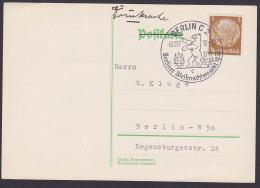 Germany Deutsches Reich Berlin C2 SSt. Weihnachtsmarkt  1937 3 Pfg Hindenburg, Berliner Bär Christbaum - Duitsland