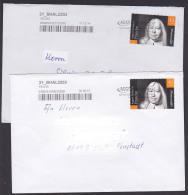 August Hermann Francke Halle,  Auf Privatpostmarke MZZ Auf Brief, Theologe, Pädagoge Und Kirchenlieddichter - Cristianismo