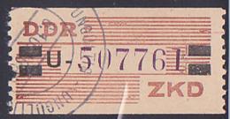 """DDR -ZKD 20 Pf Wertstreifen B29U Nachdruck Mit """"ungültig-Stempel"""" Nr. 507761, Links Zahnfehler - DDR"""