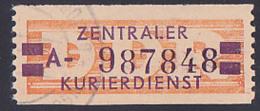 """DDR -ZKD 20 Pf Wertstreifen B23A Nachdruck Mit """"ungültig-St."""" Nr. 987848, Jede Marke Mit Der Nr. Ein Unikat - DDR"""