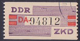 """DDR -ZKD 20 Pf Wertstreifen IV DA Nicht Ausgegeben Nr. 94812 Mit """"Ungültig""""-St., Jede Marke Mit Der Nr. Ein Unikat - DDR"""