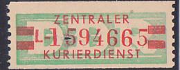 DDR -ZKD 20 Pf Wertstreifen B31IIL Original Postfrisch Nr. 1594665, Jede Marke Mit Der Nr. Ein Unikat - DDR