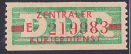 DDR -ZKD 10 Pf Wertstreifen B30IIE Original Postfrisch Nr. 219983, Jede Marke Mit Der Nr. Ein Unikat - Service