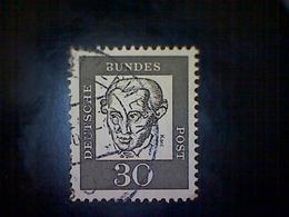 Germany, Scott #831, Used (o), 1961, German Notables Series, Immanuel Kant, 30pfs, Gray - Gebraucht
