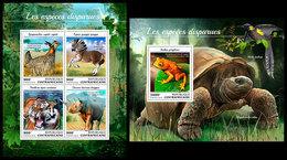 CENTRAL AFRICA 2018 - Extinct Species, M/S + S/S Official Issue - Prehistorisch