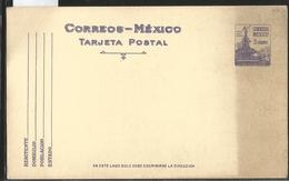 J) 1945 MEXICO, FOUNTAIN OF DIANA, THE HUNTER, PURPLE, POSTAL STATIONARY - Mexique