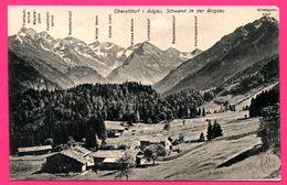 Oberstdorf I. Allgäu Schwand In Der Birgsau - B. LEHRBURGER - 1916 - Oblit. JMMENSTADT 7 Aug - Oberstdorf