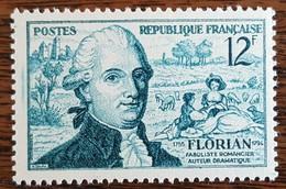 YT N°1021 - Jean-Pierre Claris De Florian - 1955 - Neuf - France