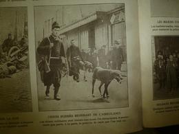 1914 LE MIROIR :Chien-soldat Belge Blessé ;Kiao-Tchéou Attaqué Par Japonais;Belges à Visé,Louvain;Détail D'une Mine;etc - Riviste & Giornali