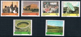 Soccer Football Zimbabwe #436/41 1990 MNH ** Stadium - Soccer