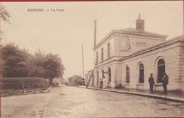 Marche En Famenne La Gare Station Statie 1923 RARE ZELDZAAM Animee Geanimeerd (En Très Bon Etat) (In Zeer Goede Staat) - Marche-en-Famenne