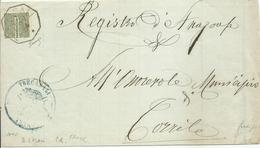 VE2080 - Frode Postale - Modulo Tra Comuni Con 1 Cent. Cifra Con Parte Bassa Asportata 22.11.1884 - Firma Biondi - Marcophilie