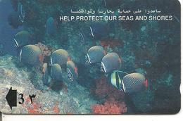 CARTE-MAGNETIQUE-OMAN-3-POISSONS-COLLARE BUTTERFLYFISH-BE - Oman