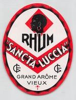 """08312 """"SANCTA LUCCIA - RHUM - GRAND ARÔME VIEUX"""" ETICHETTA ORIG - Rhum"""