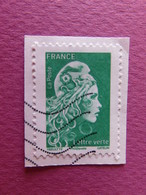Timbre France - Marianne D'Yseult Digan - L'engagée - 2018 - Lettre Verte - Used Stamps