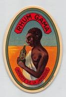 "08314 ""RHUM GAMA - IMPORTÉ DE LA JAMAĪQUE"" ETICHETTA ORIG - Rhum"