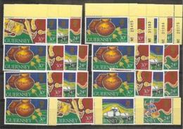 1994 Guernsey EUROPA CEPT EUROPE 7 Serie Di 4v. MNH** - Europa-CEPT