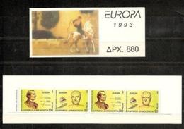1993/1994 EUROPA CEPT EUROPE - Grecia Greece 2 Libretti Europa MNH** 2 Booklets - 1993