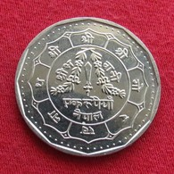 Nepal 1 Rupee 1992 UNCºº - Nepal