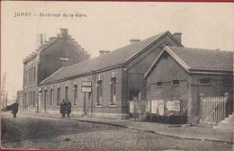 Jumet Exterieur De Gare RARE ZELDZAAM 1921 Geanimeerd Animee (En Très Bon Etat) (In Zeer Goede Staat) Charleroi Station - Charleroi