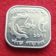 Bangladesh 5 Poisha 1979 KM# 10 Fao F.a.o. RARE  Bangladeche - Bangladesh