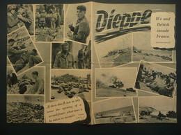 WWII WW2 German Propaganda Leaflet Tract Flugblatt, Code 451/DE/VIII.42, Dieppe We And British Invade France - Old Paper