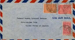 1947 - 1948  ARABIA SAUDITA , SOBRE CIRCULADO ENTRE KHOBAR Y NUEVA YORK - Arabia Saudita