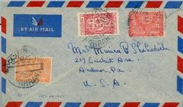 1950 - 1951 , ARABIA SAUDITA , SOBRE CIRCULADO ENTRE DHAHRAN Y ARDMORE , CORREO AÉREO - Arabia Saudita