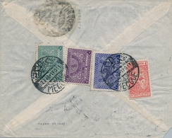 1948  , ARABIA SAUDITA , SOBRE CIRCULADO ENTRE LA MECA Y PRAGA , CORREO AÉREO, TRÁNSITO JEDDAH - Arabia Saudita