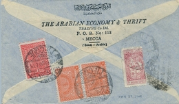1949  , ARABIA SAUDITA , SOBRE CIRCULADO ENTRE LA MECA Y PHILADELPHIA , CORREO AÉREO - Arabia Saudita