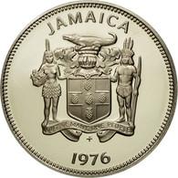 Monnaie, Jamaica, Elizabeth II, 20 Cents, 1976, Franklin Mint, USA, FDC - Jamaique