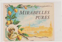 57 - METZ - VUE DE METZ SUR ETIQUETTE DE MIRABELLES PURES - Metz