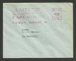 "33 - GIRONDE / "" Laiterie Domaine Carcanieux "" à QUEYRAC / 1968 / Machine SC - Postmark Collection (Covers)"