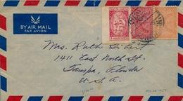 1950 - 1951 , ARABIA SAUDITA , SOBRE CIRCULADO ENTRE DHAHRAN Y TAMPA , CORREO AÉREO - Arabia Saudita