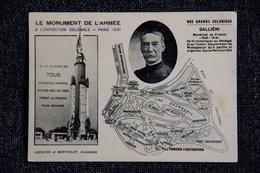 PARIS - Le Monument De L'Armée à L'Exposition Coloniale De 1931 :Nos Grands Coloniaux , GALIENI. - Exhibitions
