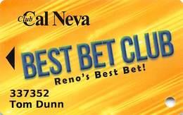 Club Cal Neva Casino Reno, NV - Slot Card - Casino Cards