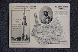 PARIS - Le Monument De L'Armée à L'Exposition Coloniale De 1931 :Nos Grands Coloniaux , Savorgnan De BRAZZA - Expositions